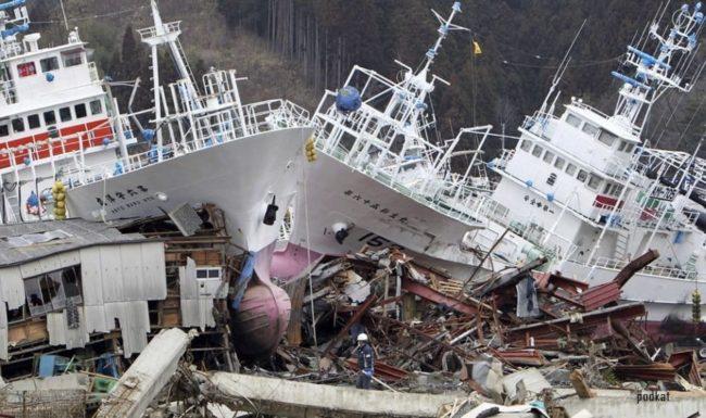 Цунами на берегах Японии в 2015 году