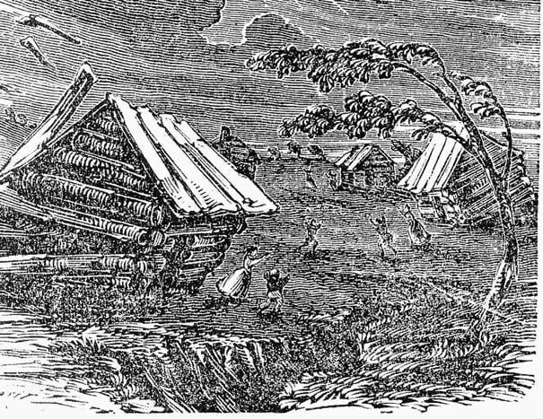 Сейсмическая активность в Северной Америке в 1700 году
