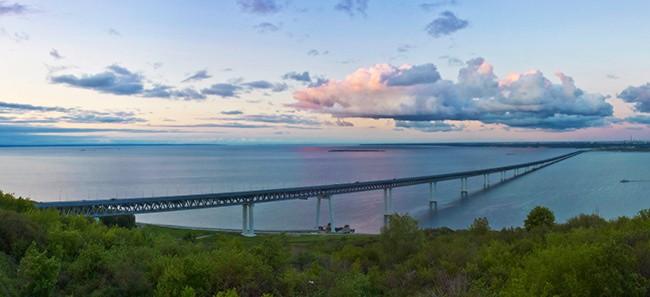 Президентский мост через Волгу