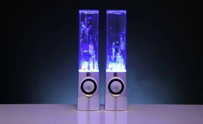 Светящиеся колонки с водным эквалайзером