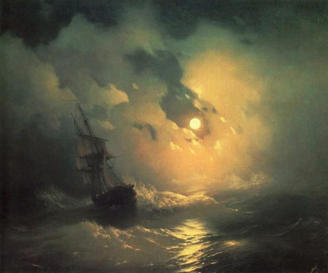 Буря на море ночью айвазовский