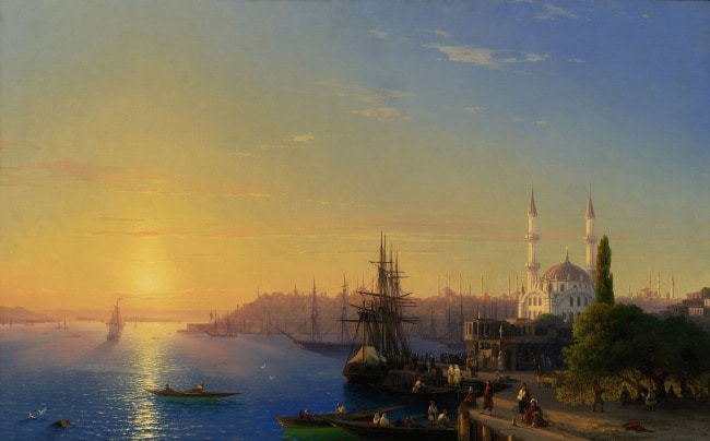 Вид Константинополя и Босфорского залива айвазовский