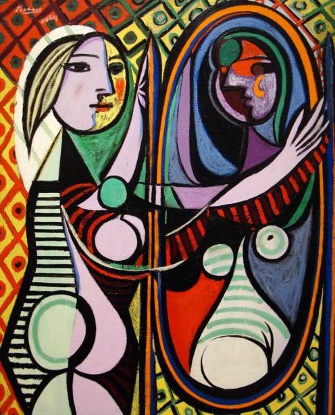 Девушка перед зеркалом пикассо