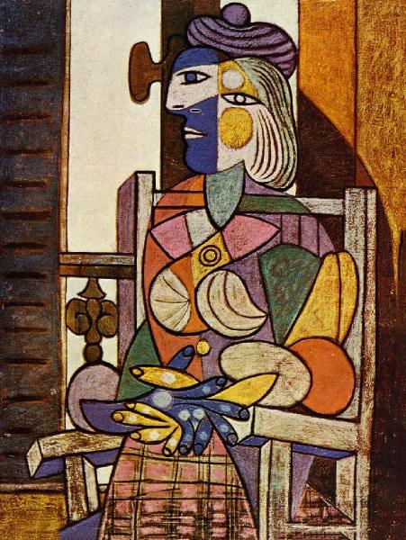 Сидящая женщина. Мария Тереза Вальтер пикассо