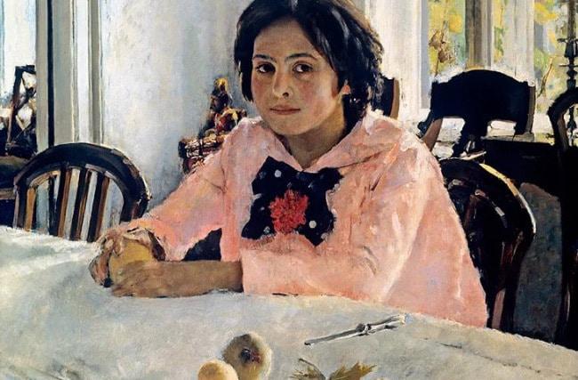 Девочка с персиками картина