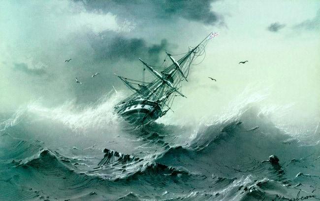 Тонущий корабль айвазовский