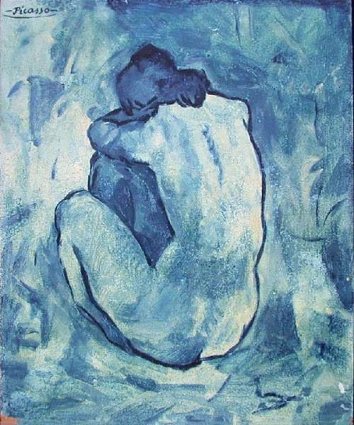 Голубая обнаженная пикассо
