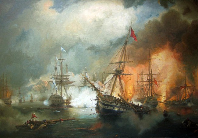 Морское сражение при Наварине айвазовский