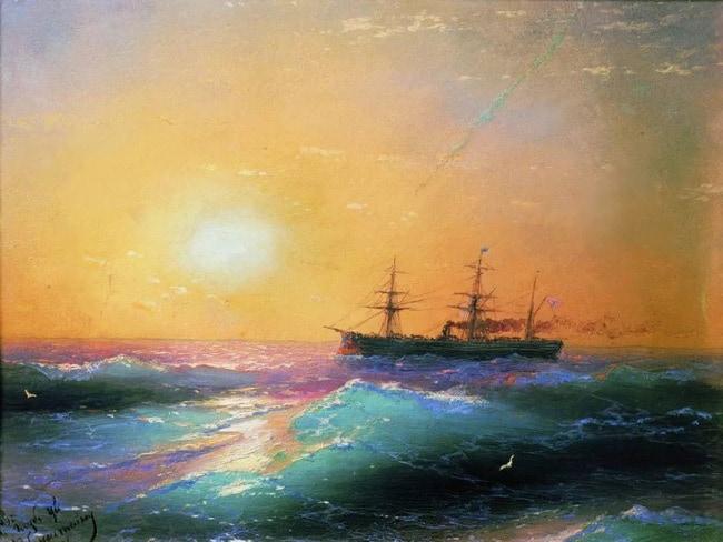 Закат на море айвазовский