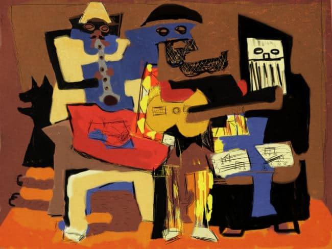 Три музыканта пикассо
