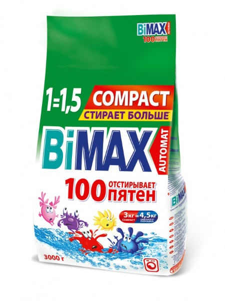 Bimax 100 пятен порошок