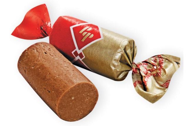 батончики с шоколадно-сливочным вкусо