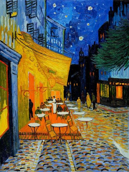 Ночная терраса кафе ван гог