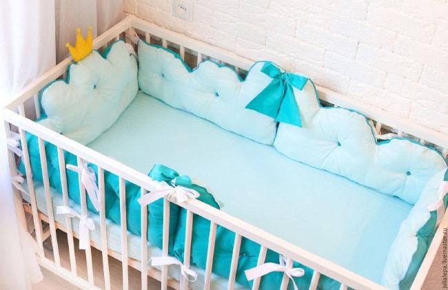 Бортик для кроватки своими руками 466