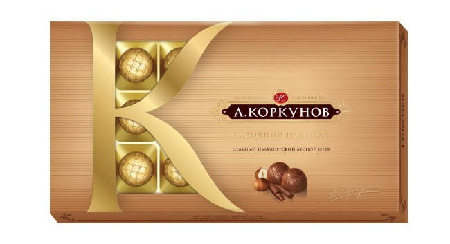 набор молочного шоколада с цельным фундуком и светлой ореховой начинкой