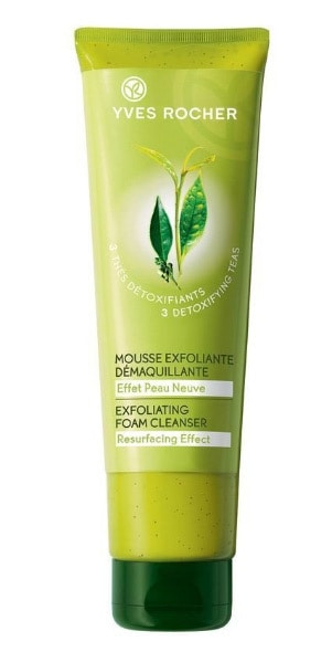 Yves Rocher 3 Thes Detoxifiants Exfoliating Foam Cleanser