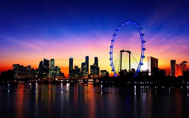 Парящий Сингапур колесо
