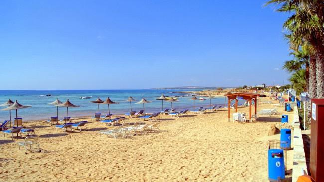 Agia Thekla Beach пляж