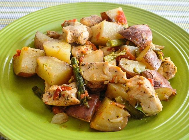 куриная грудка с картофелем и сыром