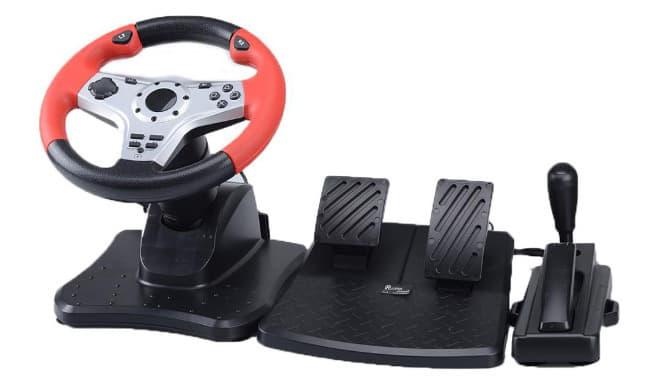 Руль и педали для гоночных игр