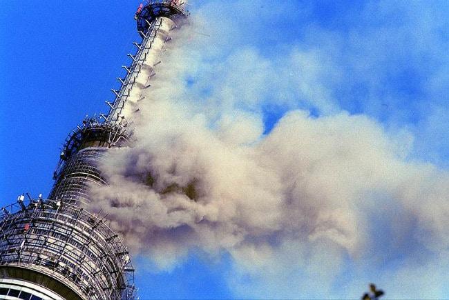 Пожар на Останкинской башне