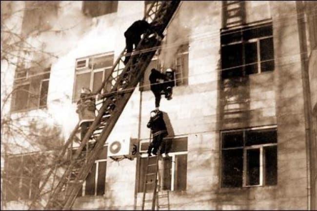 Пожар в Самарском ГУВД