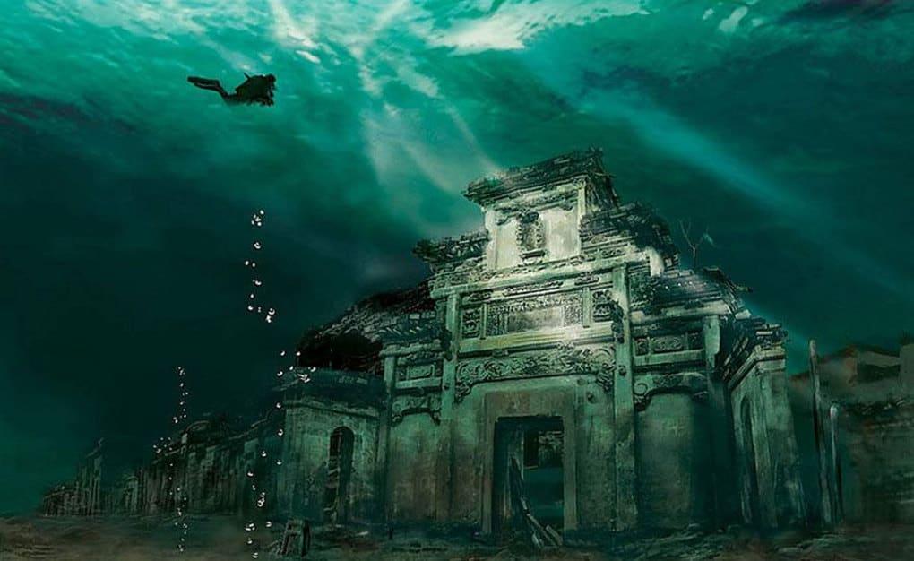 Картинки городов под водой