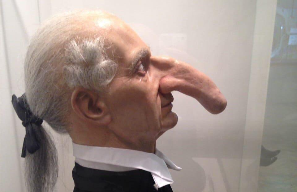 отвернулась, самый большой нос в мире у человека сожалению