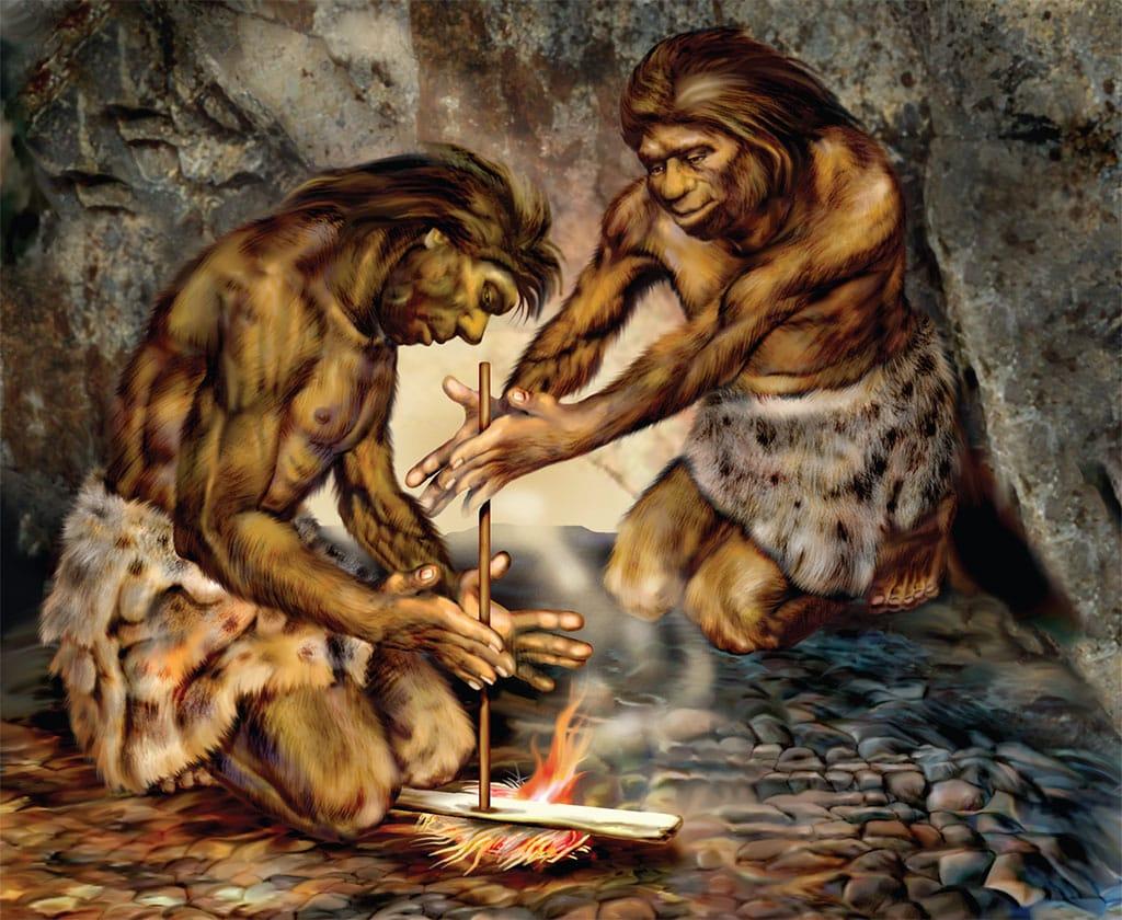 картинки первобытные люди готовят пищу черта