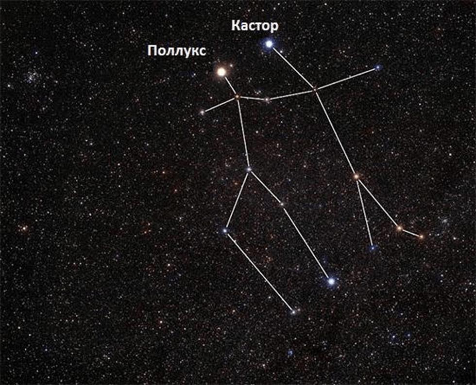 созвездие близнецы фото на небе гости, очень редким