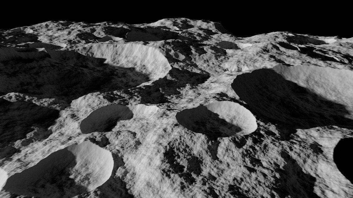 Луна поверхность картинка
