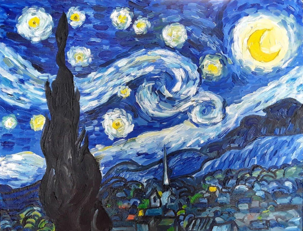 выбор картина ван гога звездная ночь оригинал фото комплект